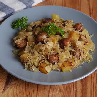 Bratwurst Sauerkraut Pan Dish