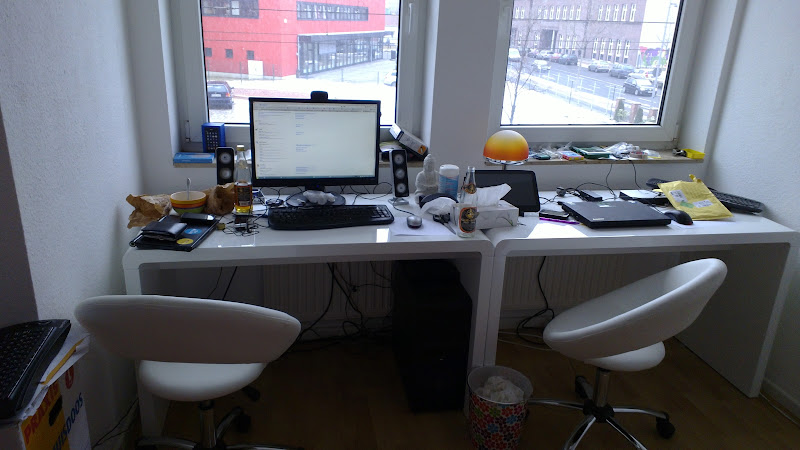 Photo: My work place - already messy so it feels done...