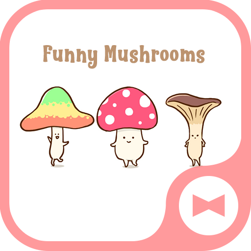 Cute Wallpaper Funny Mushrooms Theme Icon