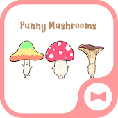 Cute Wallpaper Funny Mushrooms Theme