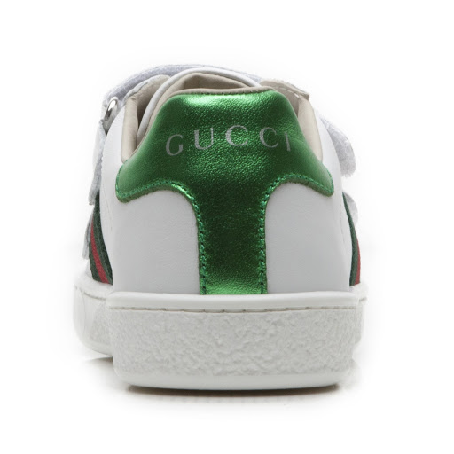Thumbnail images of Gucci Leather Web Trainer Kid