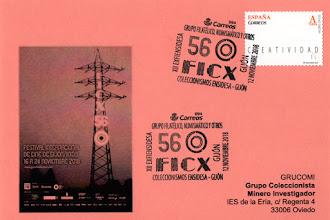 Photo: Tarjeta del matasellos del 56 Festival Internacional de Cine de Gijón