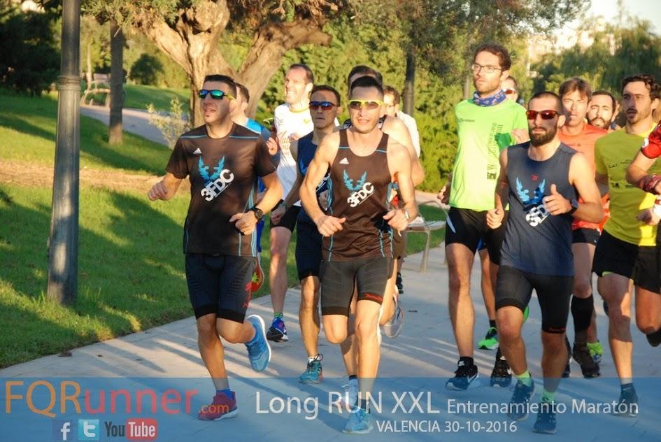 Entrenamiento Maratón de Valencia LONG RUN XXL 2016