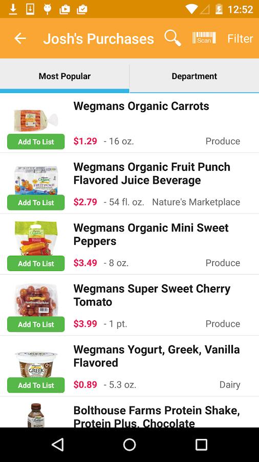 Wegmans- screenshot