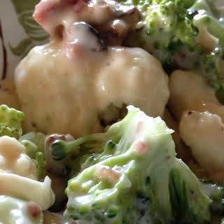 Broccoli Cauliflower and Bacon Salad.