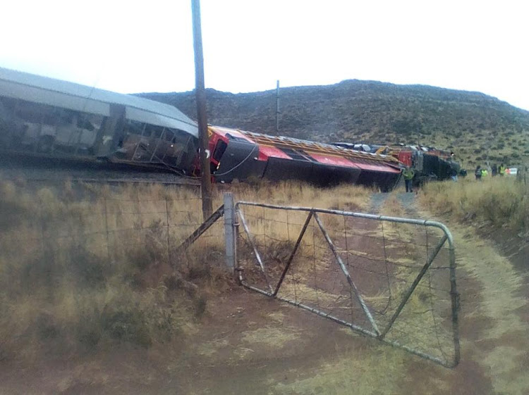 The trains were travelling in opposite directions between Middleburg and Noortport when they colluded head-on.