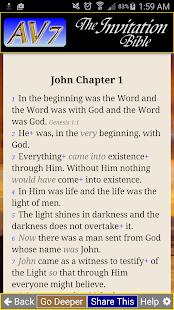 AV7 Bible App - náhled