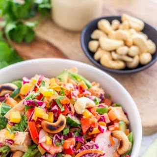 Crunchy Thai Quinoa Salad with Red Curry Chicken.