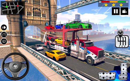 Car Transporter Truck Simulator-Carrier Truck Game apktreat screenshots 1