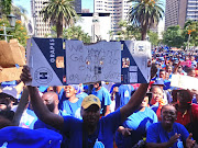Municipal employees have been protesting around Durban over discrepancies between their salaries and those employed from the Umkhonto weSizwe Military Veterans' Association.
