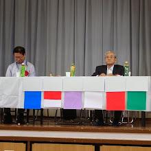 Photo: 佐藤前奄美会会長です。(右)