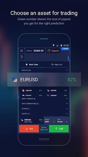 Binary options Ayrex screenshot 1