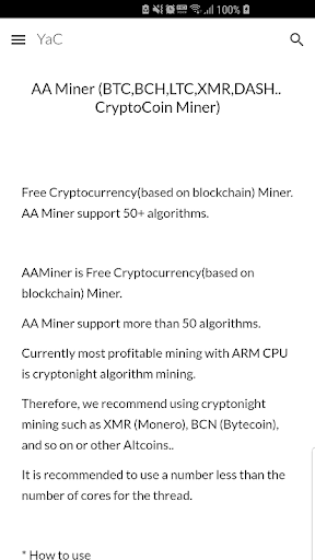 AA Miner (BTC,LTC,XMR   CryptoCoin Miner) Guide - Apps on Google Play