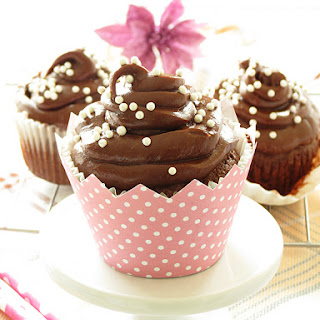Chocolate Cupcakes with Nutella Frosting Recipe