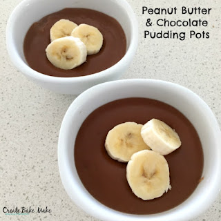 Peanut Butter and Chocolate Pudding Pots.