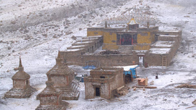 Photo: Kailash inner gompa on a snowy day ...