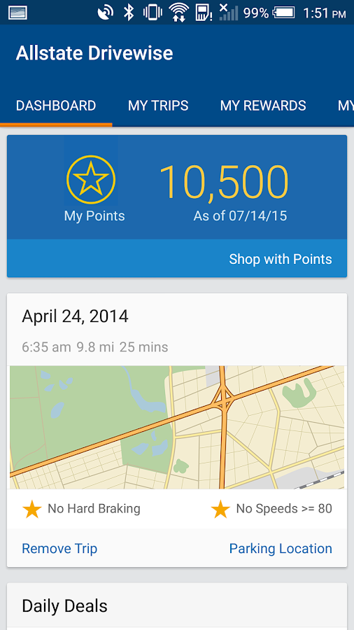 Drivewise mobile by Allstate- screenshot