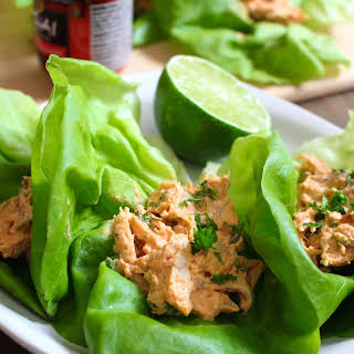 Thai Curry Chicken Salad Lettuce Wraps.