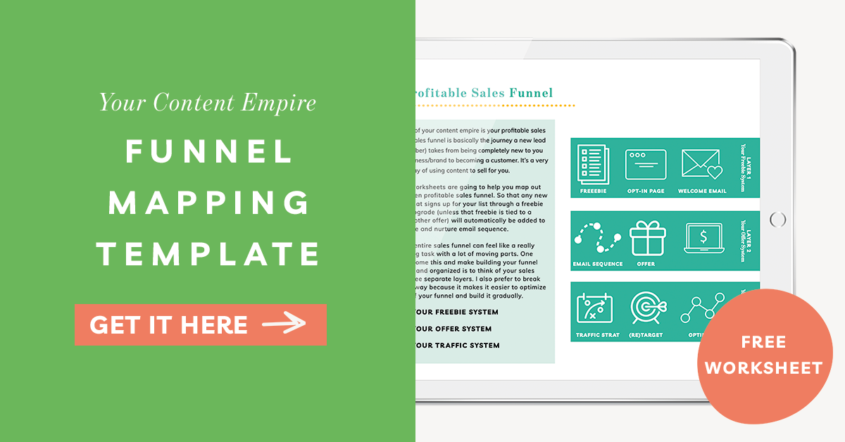 Funnel Mapping Template by Your Content Empire