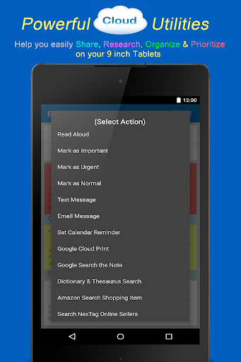 EZ Notes Applications pour Android screenshot