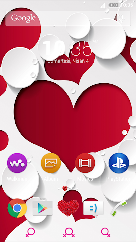 android For Xperia Theme Mylove Screenshot 0