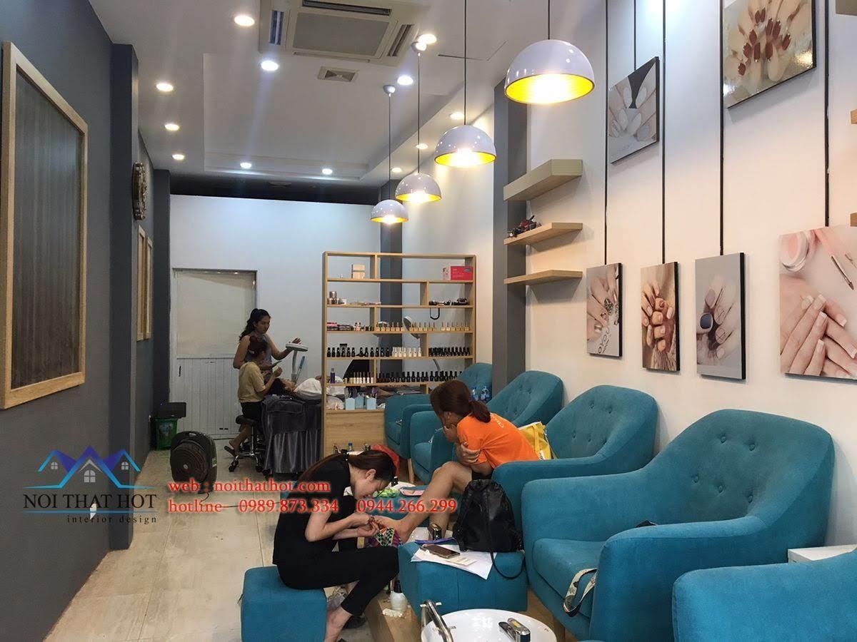 thiết kế thi công cửa hàng nail 3