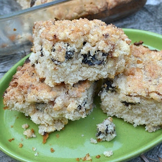 Almond Crumble Coffee Cake with Dried Plums
