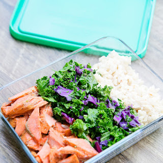 Meal Prep Combo {Salmon with Brown Rice and Kale}