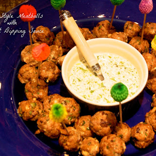 Greek Style Meatballs with Yogurt Dipping Sauce