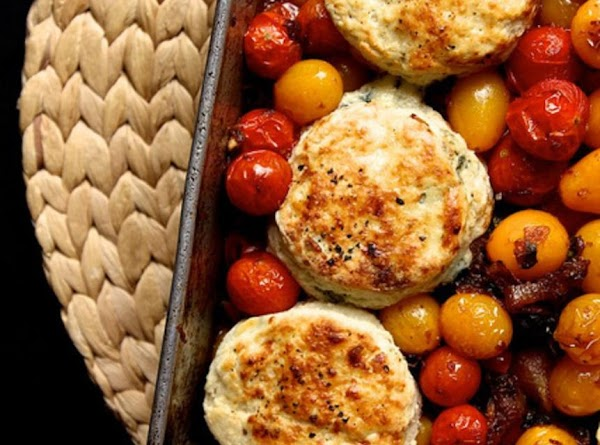 Tomato Cobbler With Blue Cheese Biscuits Recipe