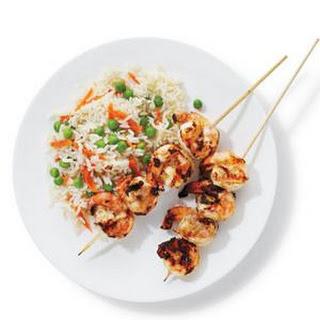 Tandoori Shrimp With Rice and Peas