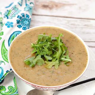 Roasted Potato Soup with Arugula