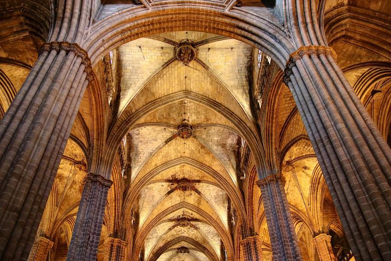Simmetrie gotiche Cattedrale di Barcellona di bepi1969