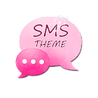 Pink Star GO SMS Theme icon