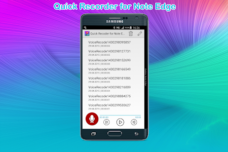 Quick Recorder for Note Edge v1.0