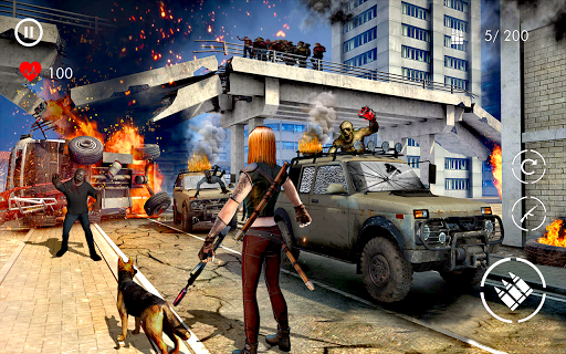 zombie Jeux de tir: marche zombie morts en hausse  captures d'écran 1