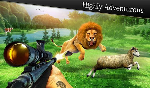Animal Hunting game: Jeep Drive simulator apk screenshot