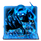 Blue Fire Flame Skull Keyboard Theme Android APK Download Free By Bs28patel