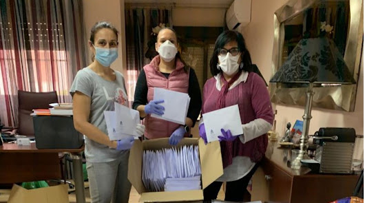 """Material """"a domicilio"""" para 3.400 enfermeros colegiados"""