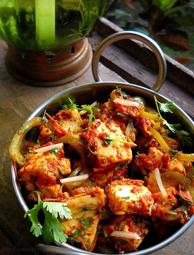 Kadhai Paneer Dry Recipe