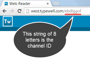 Web Linking URL with eight-letter channel ID underlined