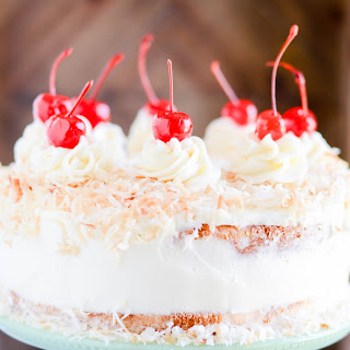 Pina Colada Birthday Cake.