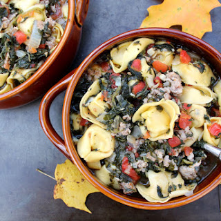 Tortellini Sausage and Spinach Soup