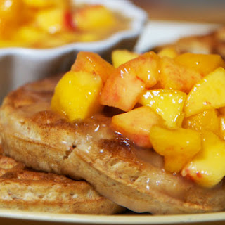 Peaches and Waffles
