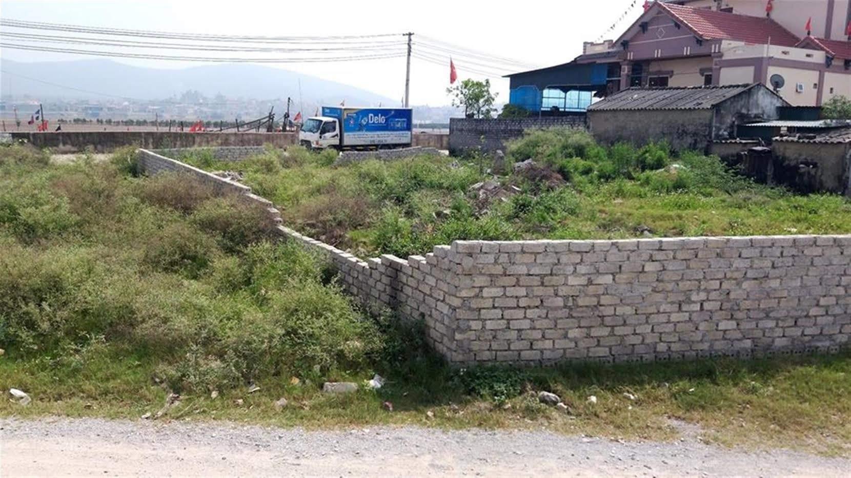 Hiện trạng khu vực ông Phan Văn Cư xây dựng tường bao, bị xử phạt vi phạm hành chính