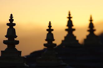 Photo: Sunrise over the Himalayas at Dochu La.