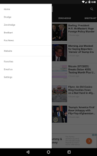 Breitbart + Drudge Report + ZeroHedge + Fox News- screenshot thumbnail