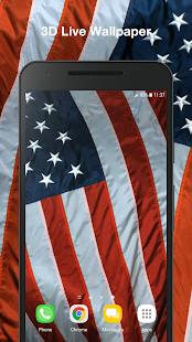 3D American Flag Live Wallpaper PRO - náhled