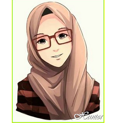 93 Gambar Gambar Kartun Muslimah Paling Keren