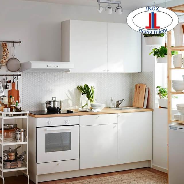 Các thiết kế tủ bếp trắng